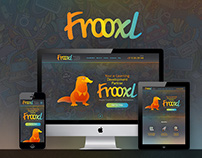 Frooxl. e-Learning company branding and website design