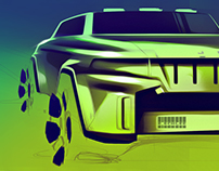 Photoshop Sketching Tutorial - Jeep #23