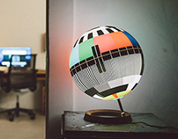 Mono Lamp - A design lamp inspired by TV test cards.