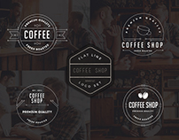 Coffee Shop Flat Line Logo