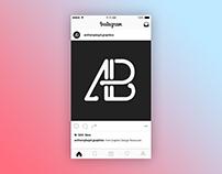 2016 Instagram Post Page Mockup
