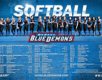 Softball Poster Design