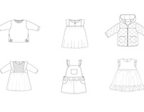 Technical Flat Drawings sample - Kidswear