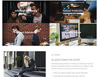 Influencer marketing web project