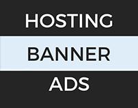 Flat Web Hosting Banners/Ad