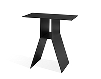 furniture design: side table Kanji