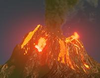 Blender Practice--Volcano