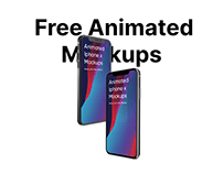 Free animated mockups Iphone x