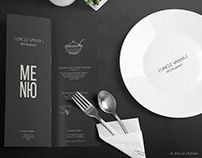 Uncle Vanya Restaurant Menu design by Zollo