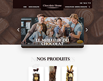 Chocolate website webdesign