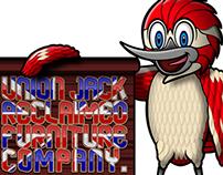 Furniture Woodpecker Mascot