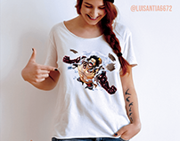 T-shirt illustration: One Piece - Monkey D. Luffy