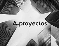 A-proyectos, corporate identity