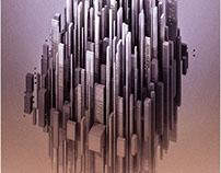Floating City - Voxel art