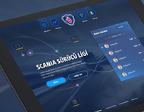Scania Drivers League Mobile App & Admin Panel Design