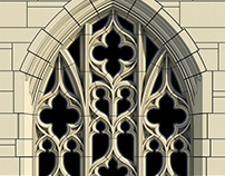 Arched Gothic Window