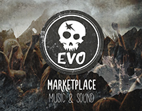 Logo EVO for Marketplace Music and Sound