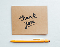 Stationery Design // Hand Lettered Thank You Cards