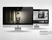 LAVA Boutique, Interactive Web Design