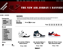 Web Design for Sneakers Store!