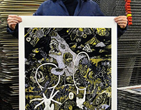 Silk-screened prints