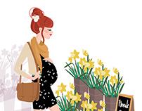 Illustration fleuriste