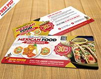 Mexican Restaurant Discount Voucher Design PSD