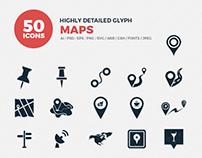 JI-Glyph Map Icon Set