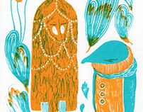 Kinkmole Silkcreen Print