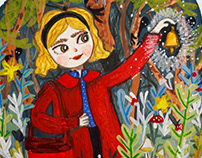 Sabrina Spellman illustration gouache