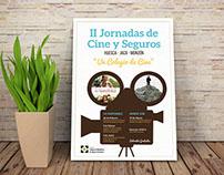 Cartel y Flyer: II Jornadas Cine y Seguros en Huesca