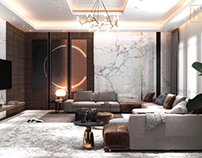 Living room design in Kuwait City