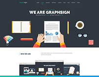 Graphsign - The Creative Onepage PSD Design