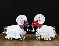 Paper Toy Sheep for Chinese New Year 2015