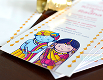 Radha Krishna Invitation - Cute Couple Collection