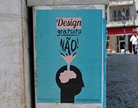 """""""Design gratuito NÃO!"""""""