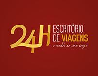 24H Escritório de Viagens | Branding Set