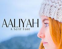 Aaliyah - Free Serif Font