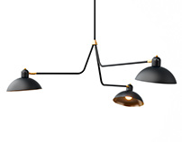 3d model: Waldorf Triple Lights by Lambert et Fils