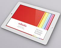 Robusta studio digital profile and portfolio booklet