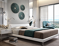 Realistic Renders for a Luxurious Bedroom Design