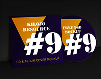 FREE PSD Mockup CD & Album Cover | KilojoResource#9