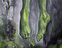 """SERENIRY"" acrylic on canvas 30x60"