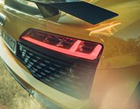 light on the Audi R8 V10