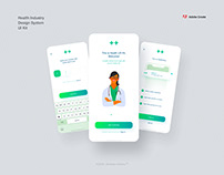Free Health Industry Design System UI Kit