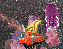 Digital collage for Adidas Originals