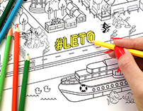 Coloring map of «Gorky park»