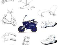 Industrial Design Sketch / School Work