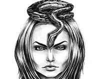 snake girl gif