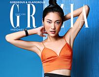 Ayu Gani on Grazia Indonesia Cover Agustus 2015